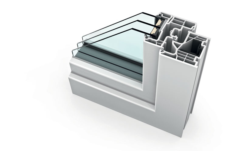 sezione serramento pvc internorm